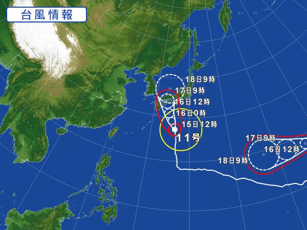 台風11号とオーガニック野菜